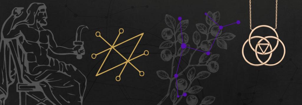 Bijou astrologique etoile de Saturne