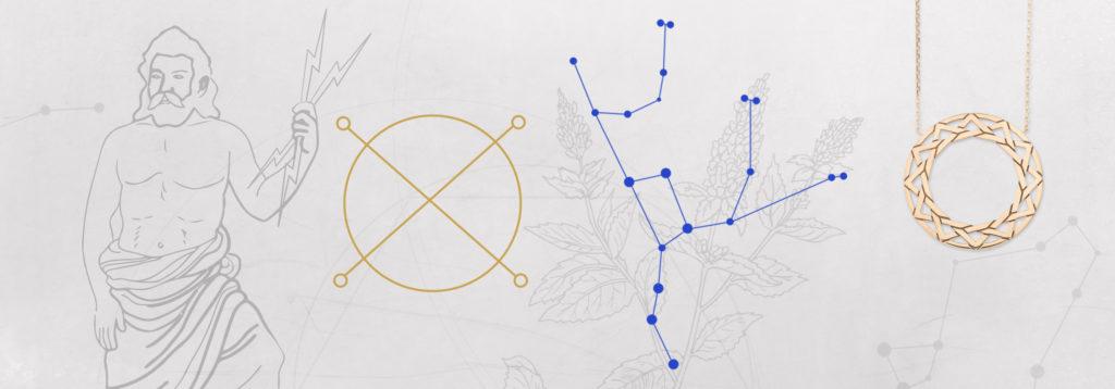 Création bijouterie astrologique parure planète Jupiter
