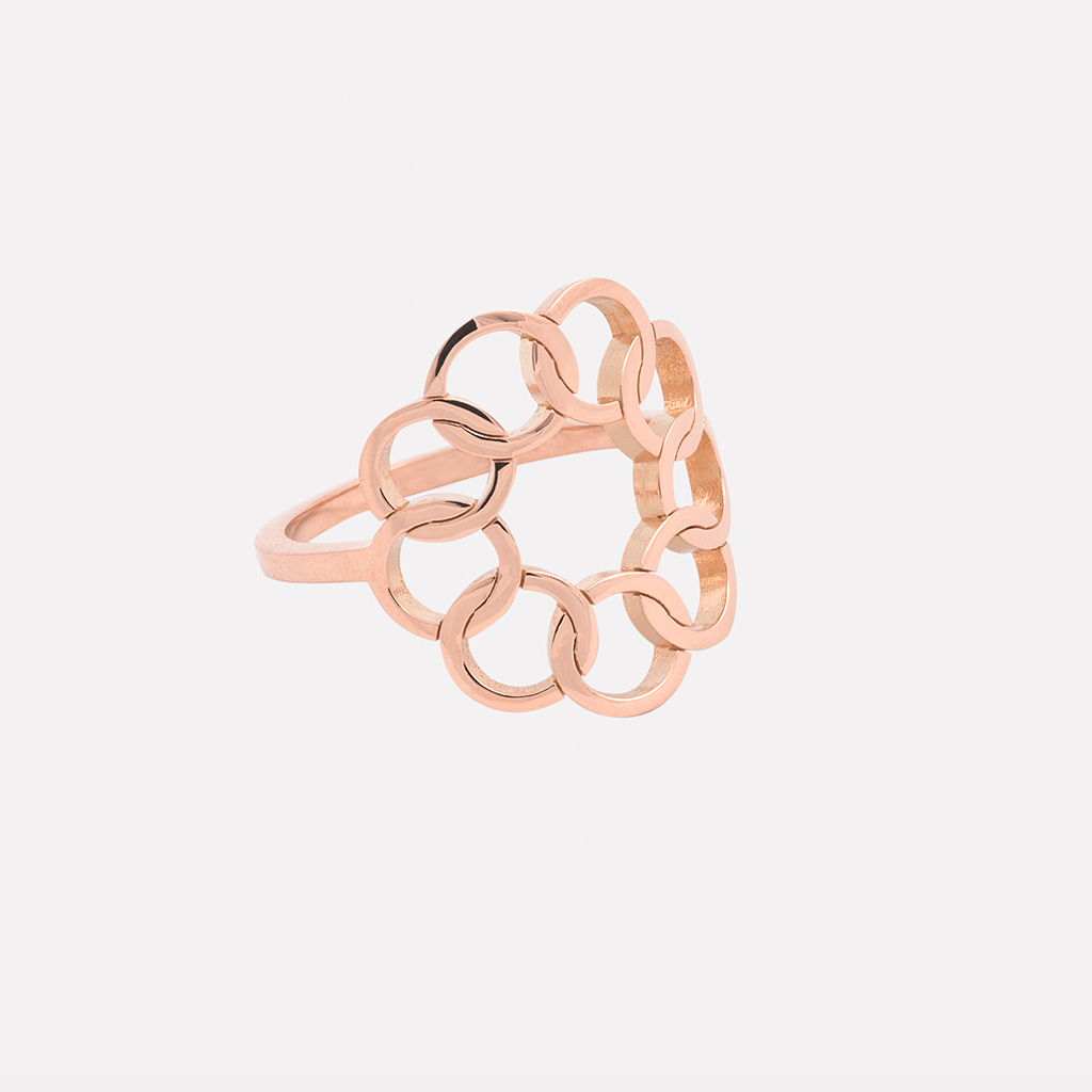 Bague Lune or rose