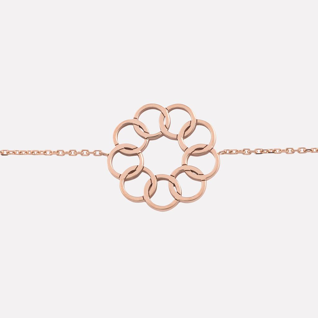 bracelet Lune étoile rose