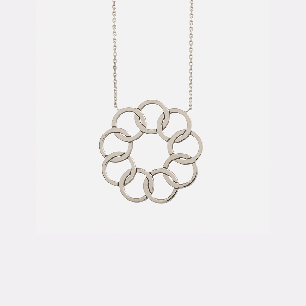 Collier Lune or blanc