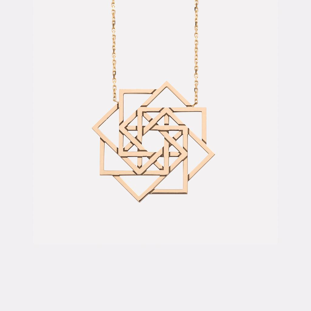 pendentif étoile de mars en or