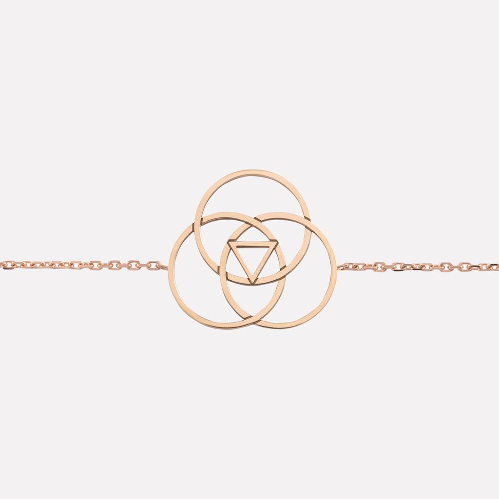 collier Saturne or rose