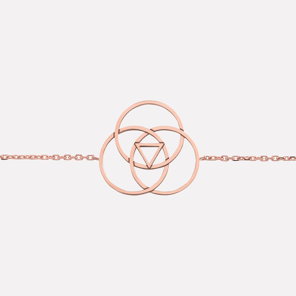 bracelet saturne or rose