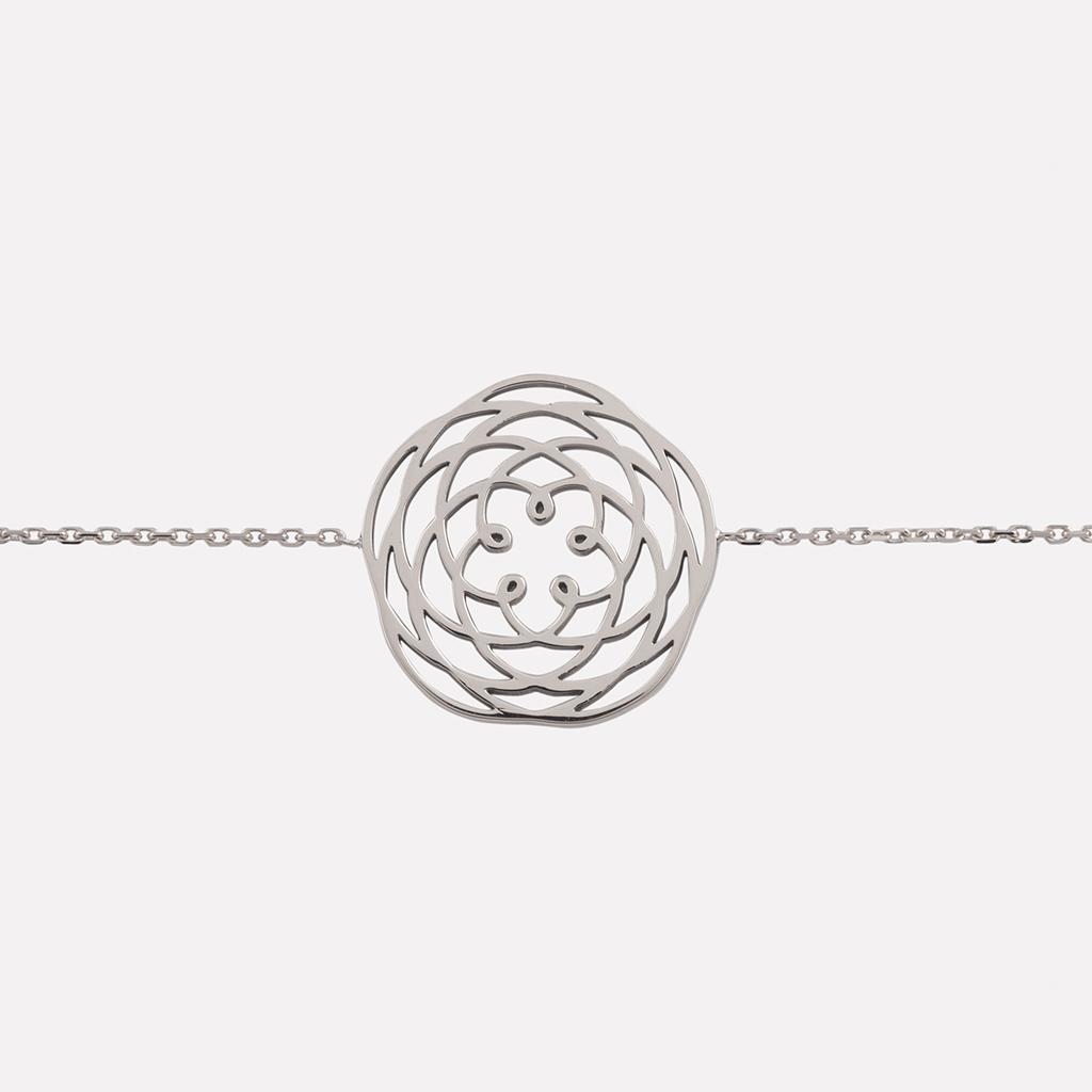 bracelet venus or blanc